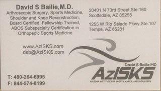 Azisks dr bailie arizona orthopedic business cards arizona azisks dr bailie arizona orthopedic business cards colourmoves