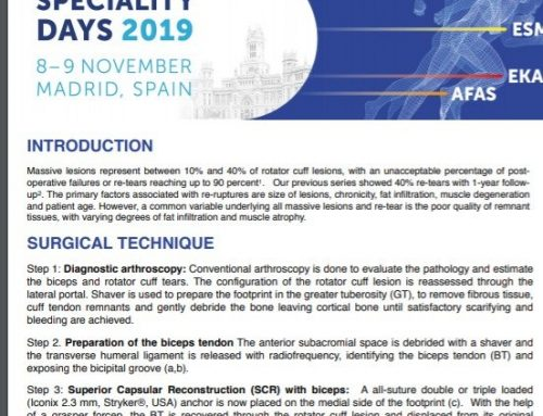 Drs Llinas and Bailie To Present Original Research at the European ESSKA in Madrid Spain in November, 2019